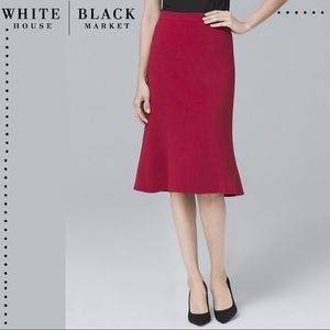 White House Black Market Flounce Hem Pencil Skirt